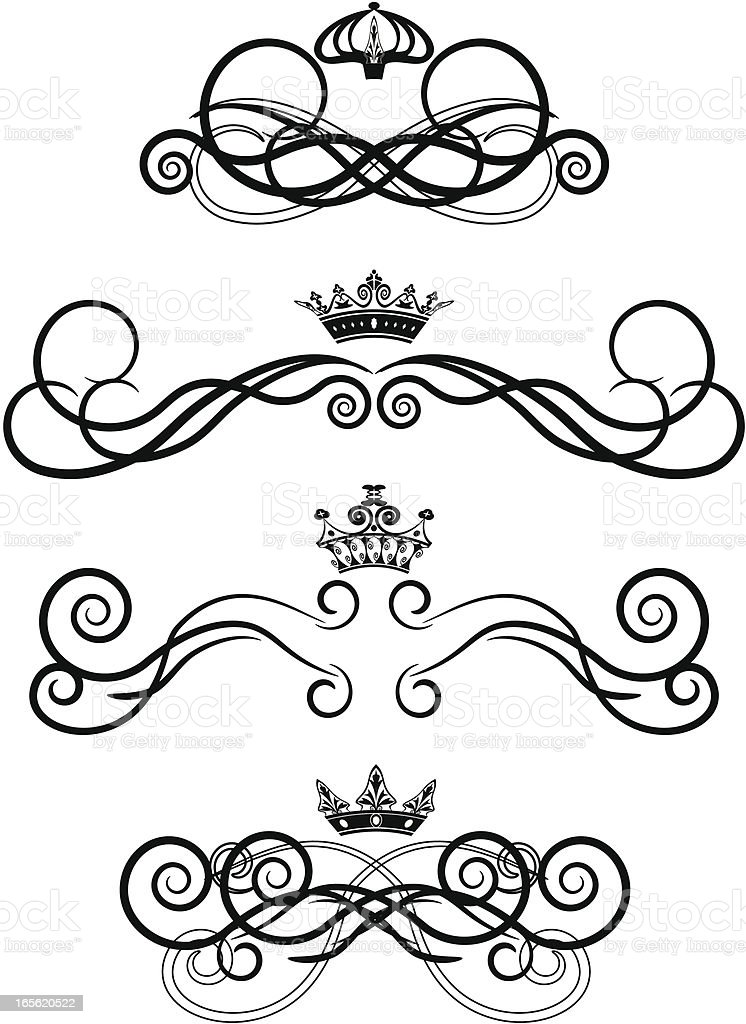 label with crown royalty-free stock vector art