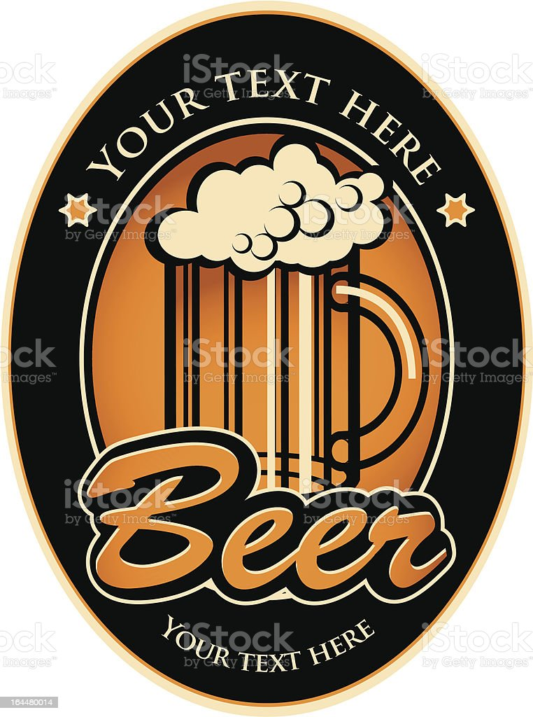 labels for the beer royalty-free stock vector art