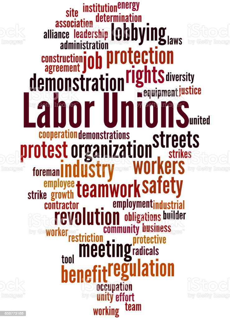 Labor Unions Word Cloud Concept 7 Stock Vector Art More Images Of