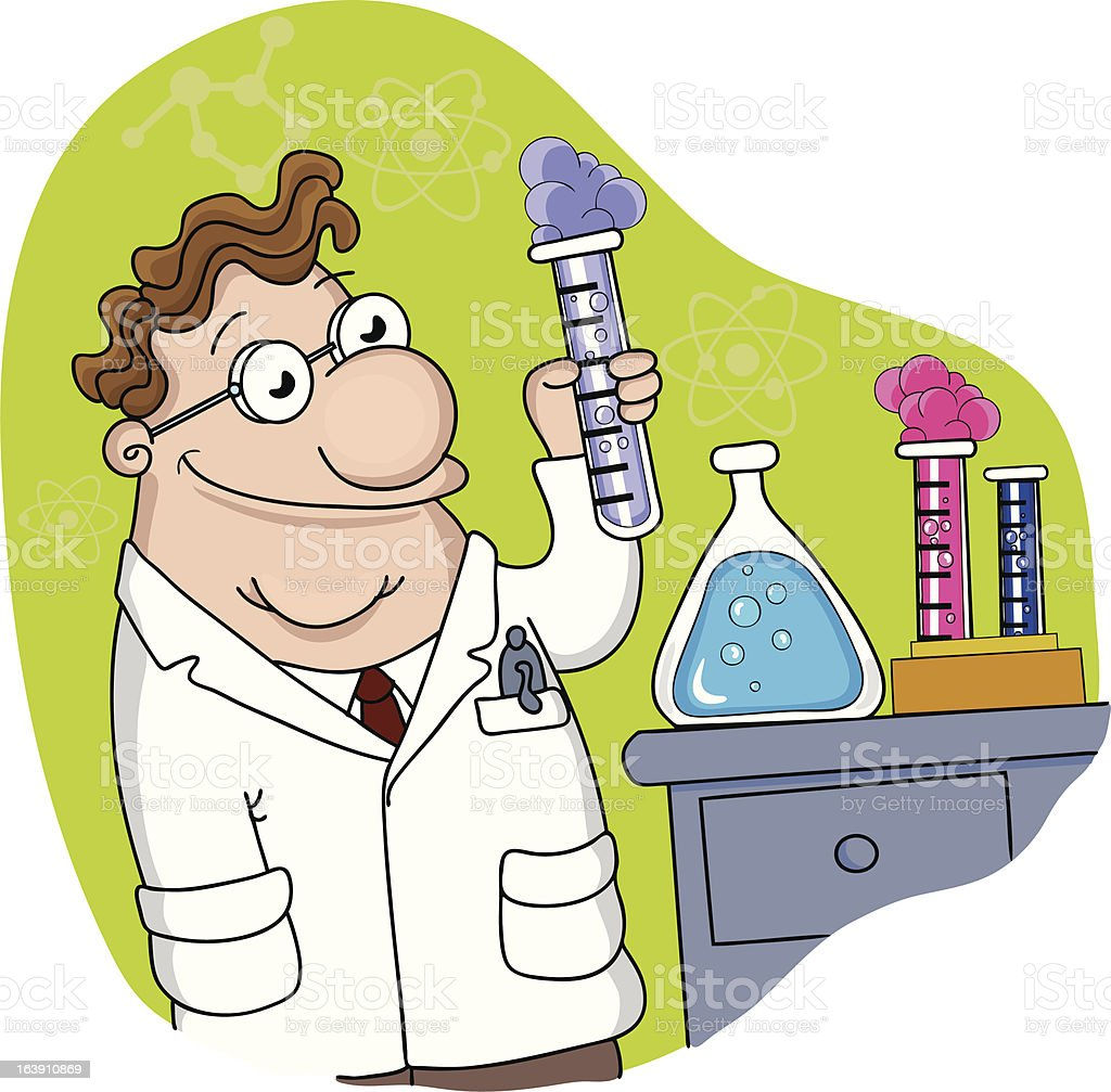 Laboratory vector art illustration