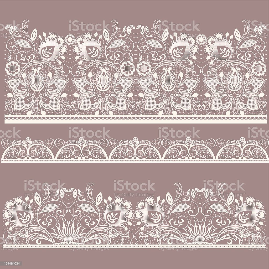 Lace vector art illustration