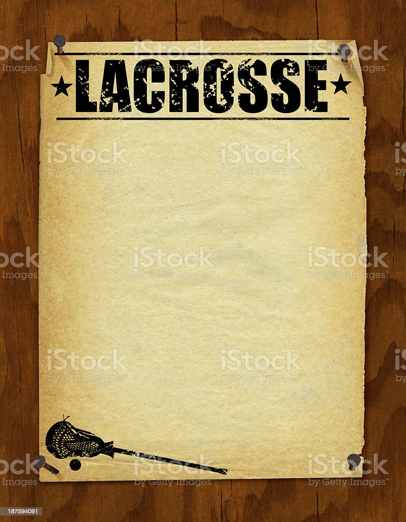 Lacrosse Poster Background - Retro royalty-free lacrosse poster background retro stock vector art & more images of announcement message