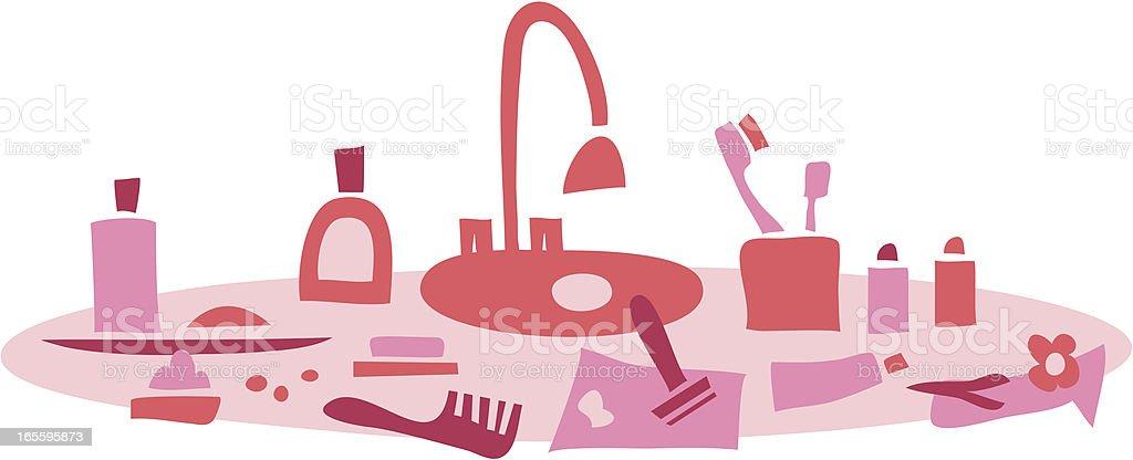 Para mulheres quarto ilustração de para mulheres quarto e mais banco de imagens de banheiro - estrutura construída royalty-free