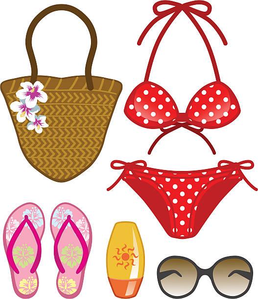 Free polka dot bikini clip art
