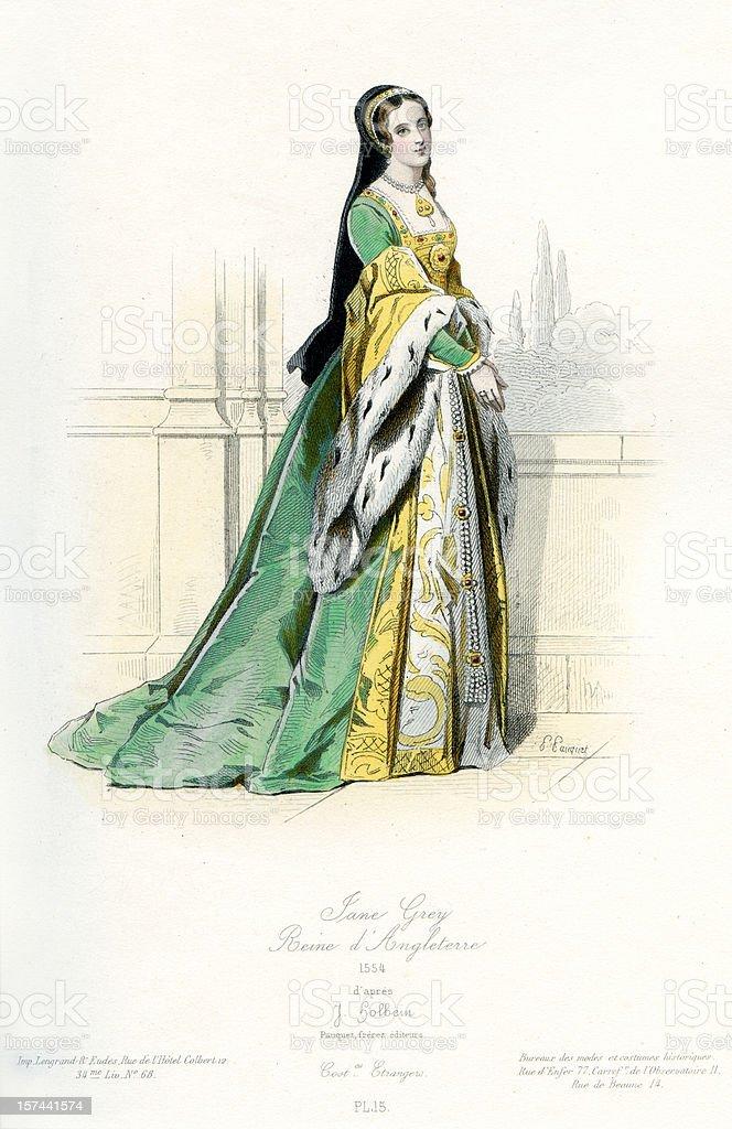 Lady Jane Grey royalty-free stock vector art