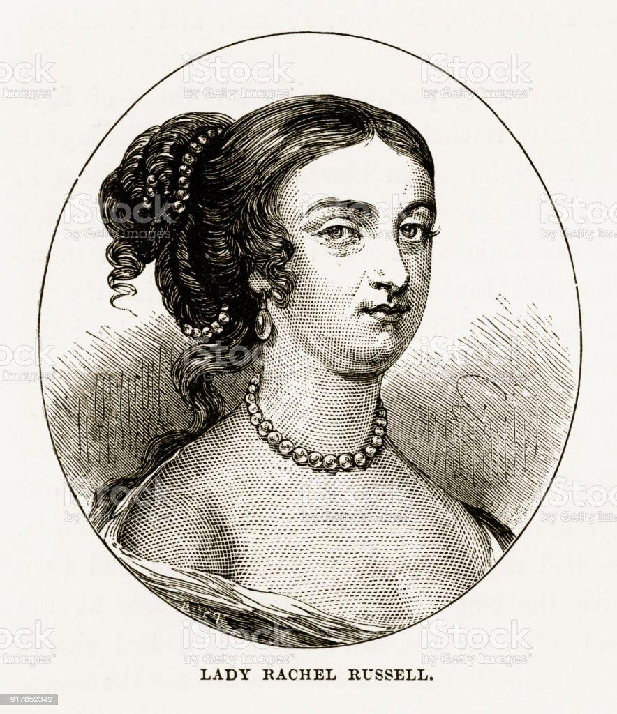 Lady Rachel Russell of Woburn, England Victorian Engraving, Circa 1840 vector art illustration