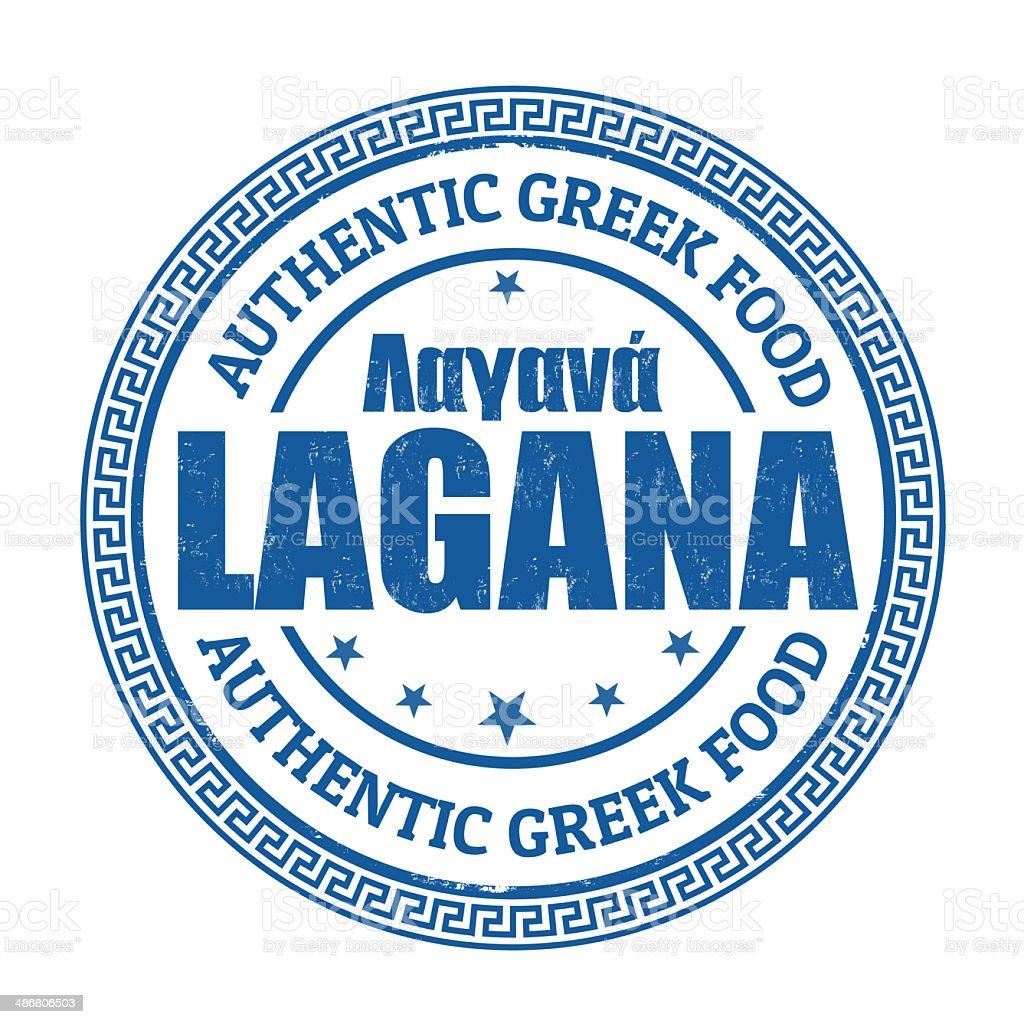 Lagana stamp royalty-free stock vector art