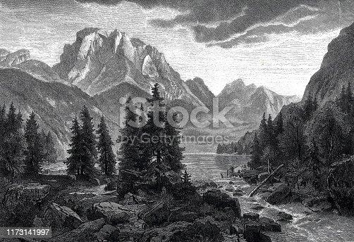 istock Lago del Predil, Italy, close to Tarvis 1173141997