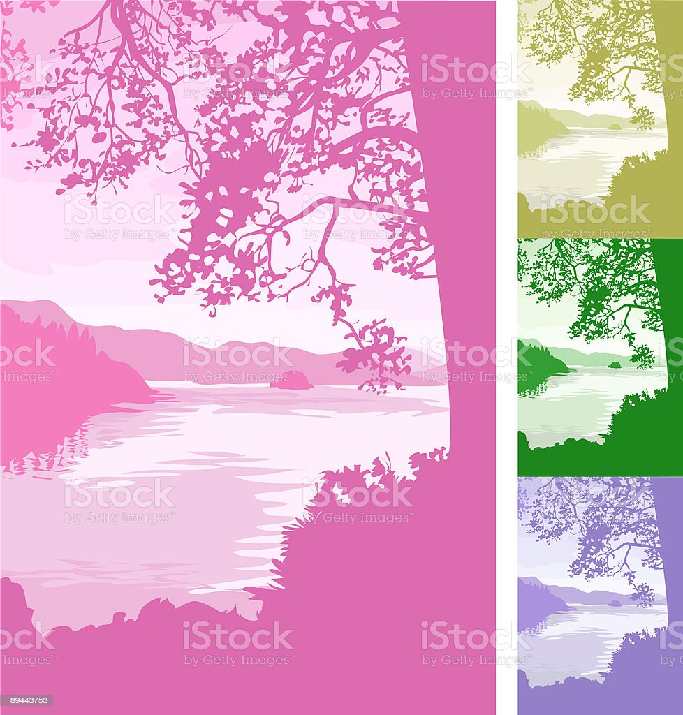 lake background royalty-free lake background stock vector art & more images of abstract