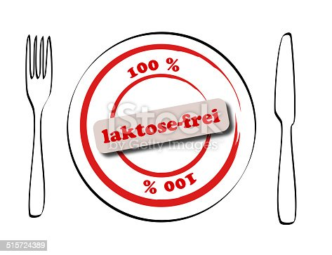 istock laktose-frei - without lactose in german 515724389
