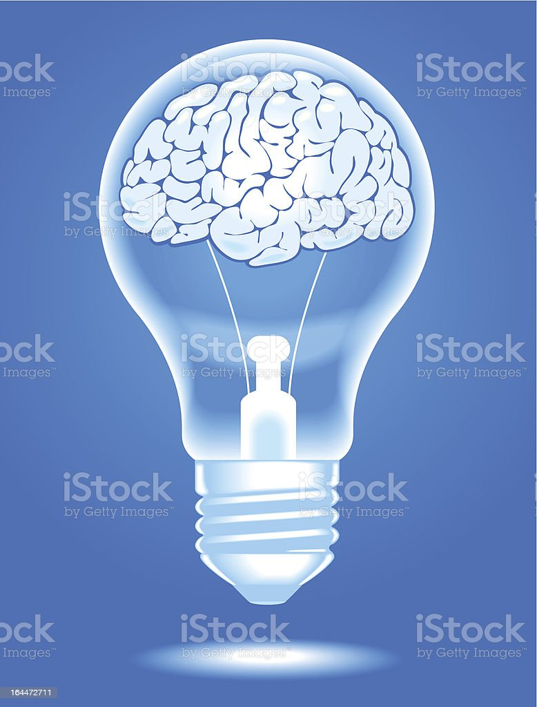 lamp with brain royalty-free stock vector art