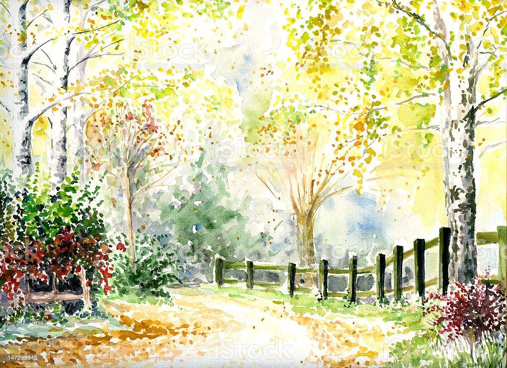 Landscape vector art illustration