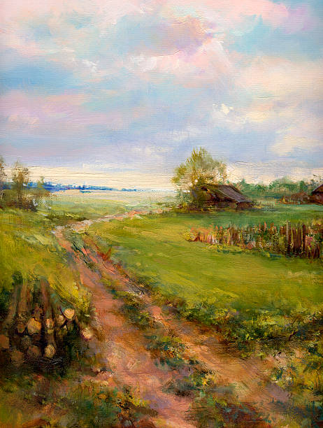Landschaft-Malerei – Vektorgrafik