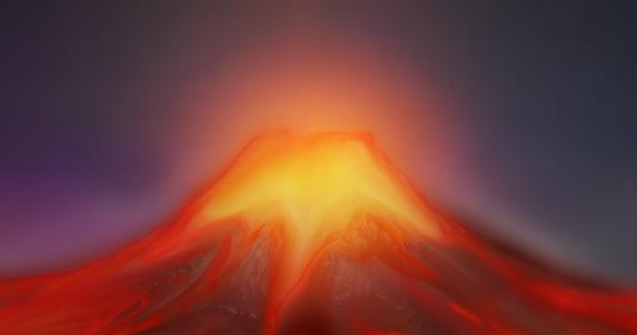 Eruption De Volcan De Peinture De Paysage Flux De Lave Vecteurs Libres De Droits Et Plus D Images Vectorielles De Accident Et Desastre Istock
