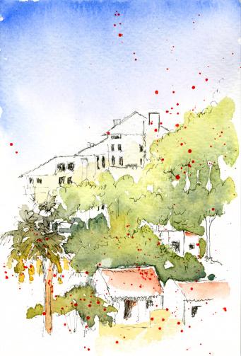 Landscape Watercolour Europe