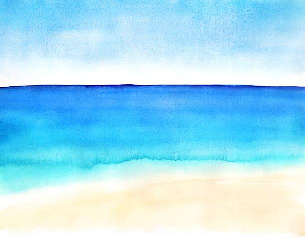 の風景砂のビーチと海 - 海点のイラスト素材/クリップアート素材/マンガ素材/アイコン素材