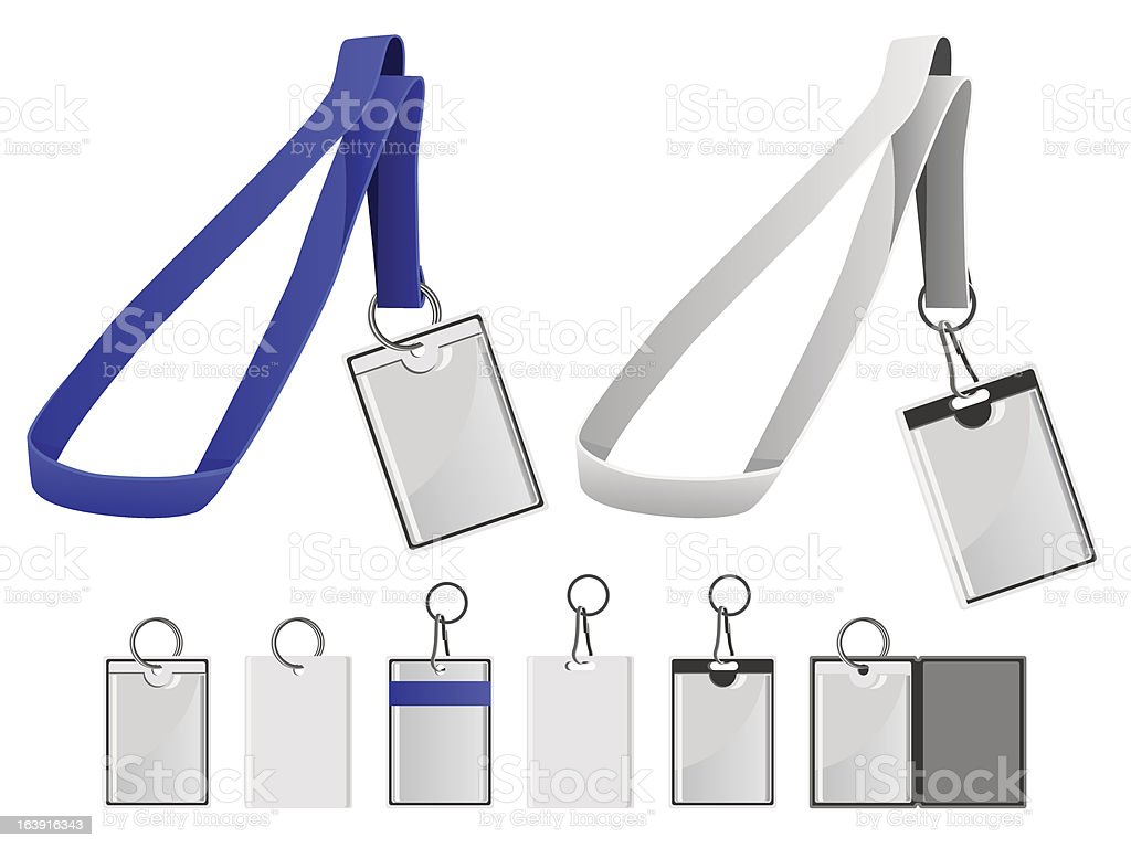 Lanyards and Cards royalty-free stock vector art
