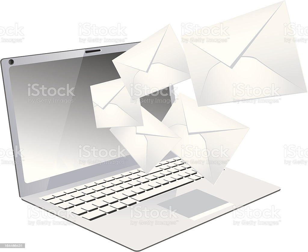 Laptop E-mail royalty-free stock vector art
