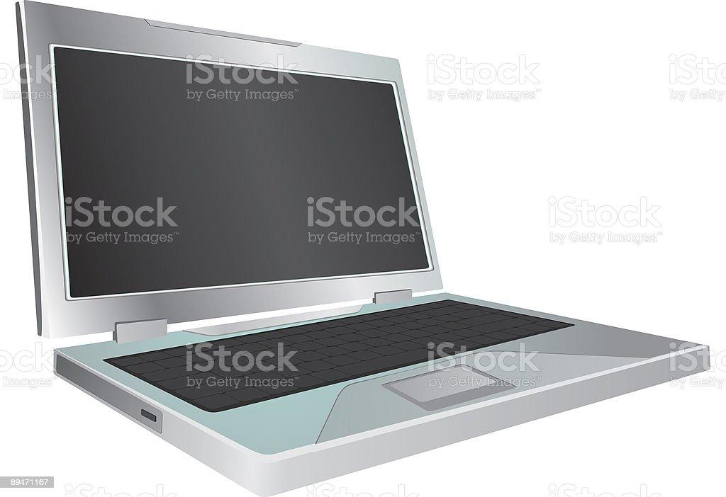 Portátil sobre fondo blanco ilustración de portátil sobre fondo blanco y más banco de imágenes de color - tipo de imagen libre de derechos