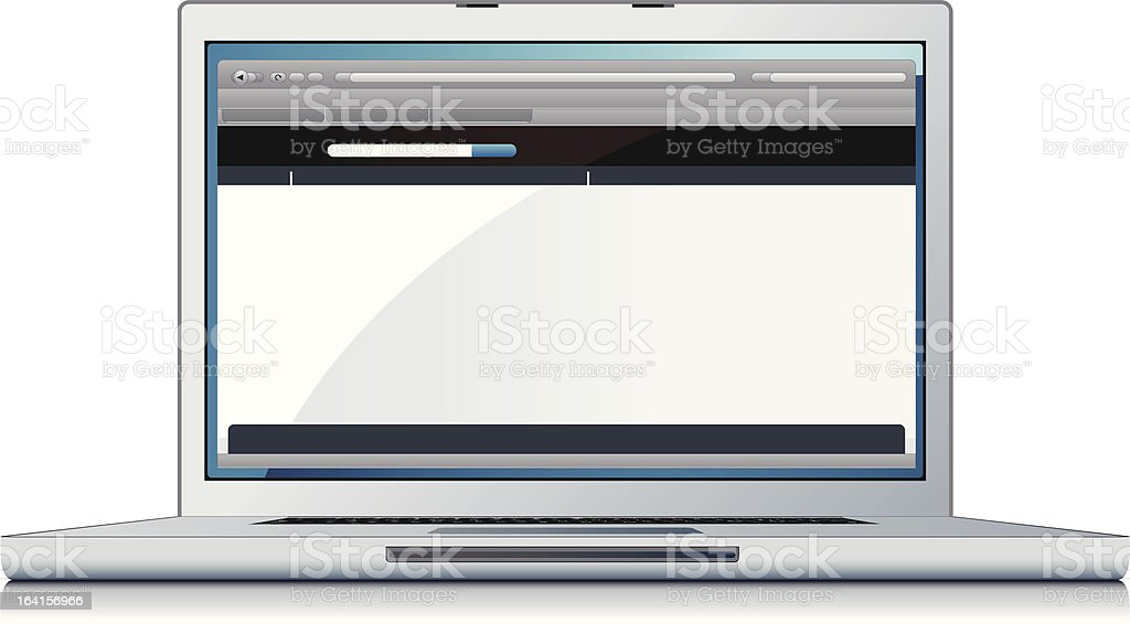 laptop with web page royalty-free stock vector art