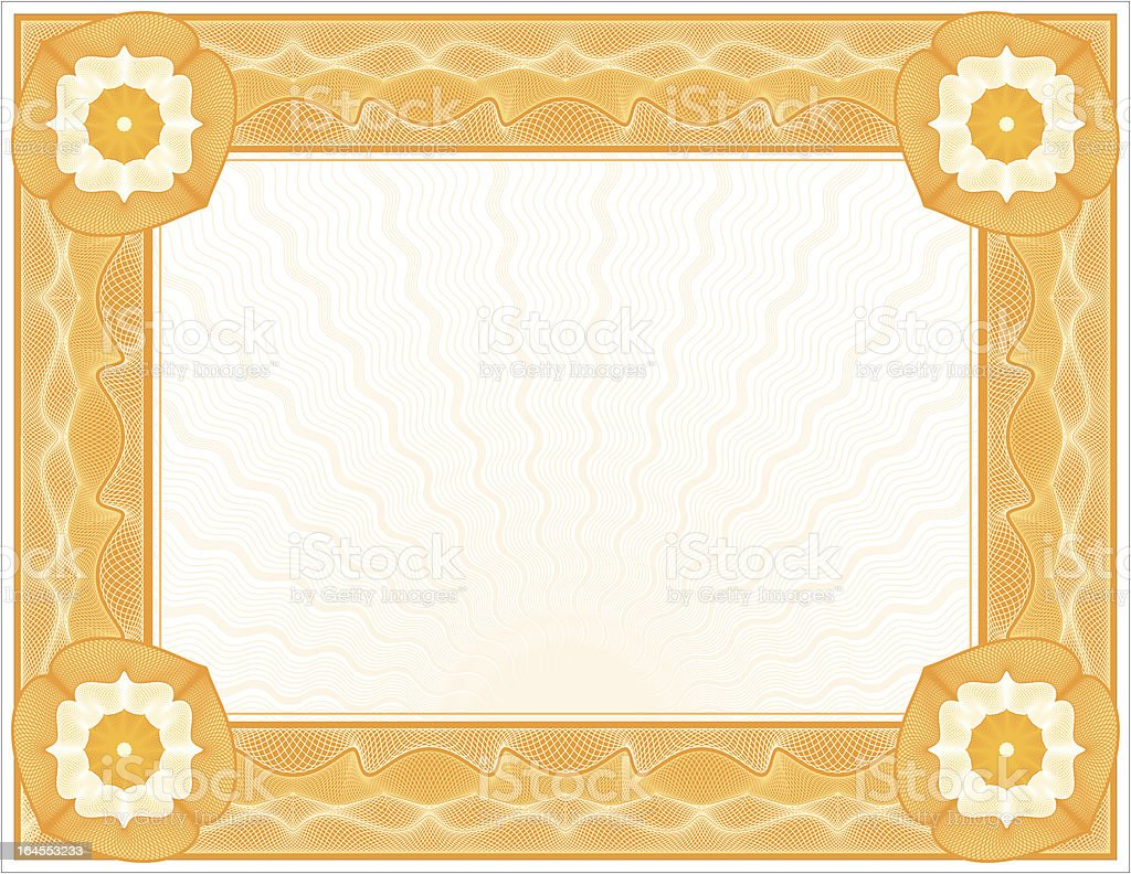 Large Certificate - Diploma royalty-free stock vector art