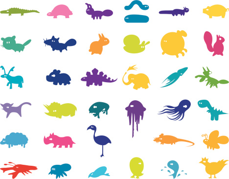 Large Collection of Stylised Animals