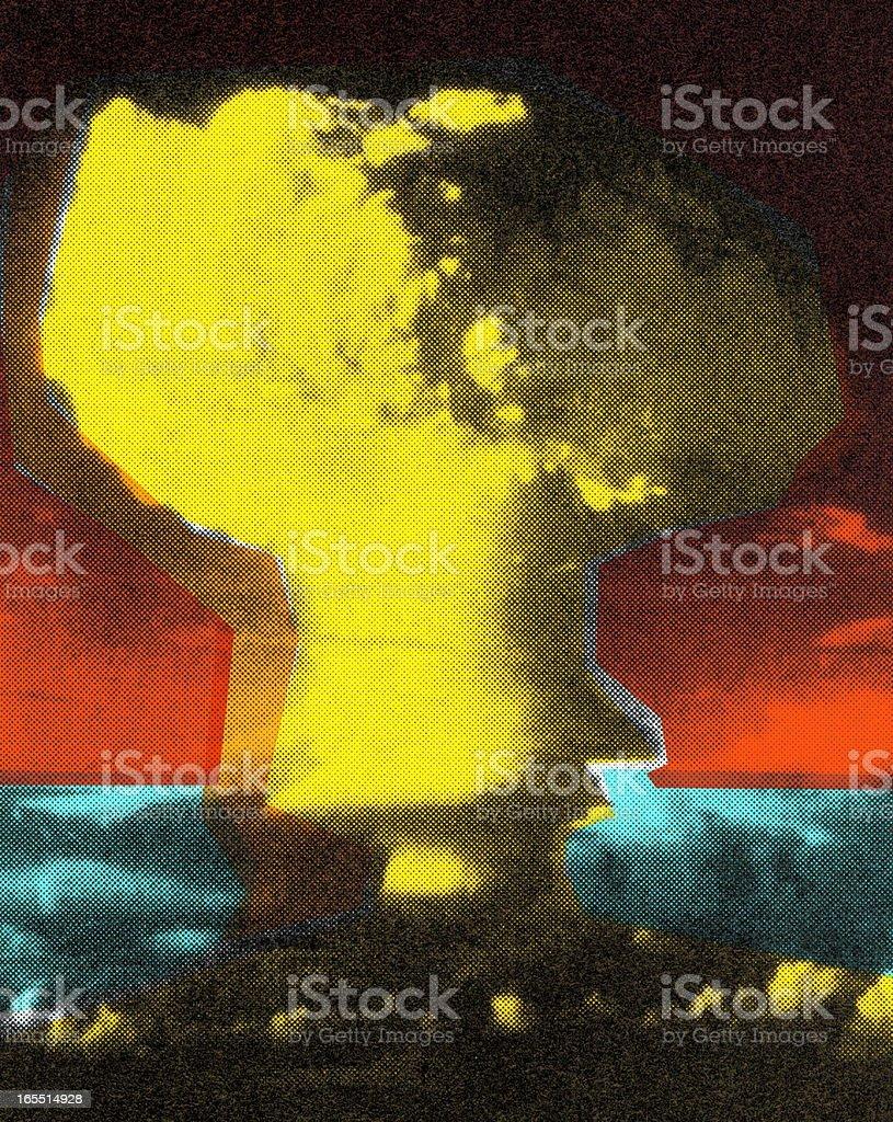 Large Explosion vector art illustration