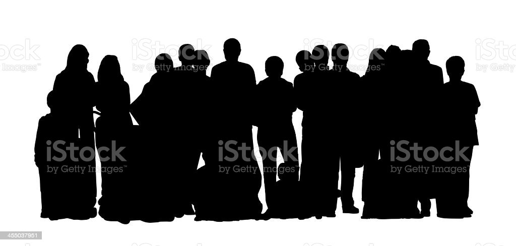 large group of people silhouettes set 1 vector art illustration