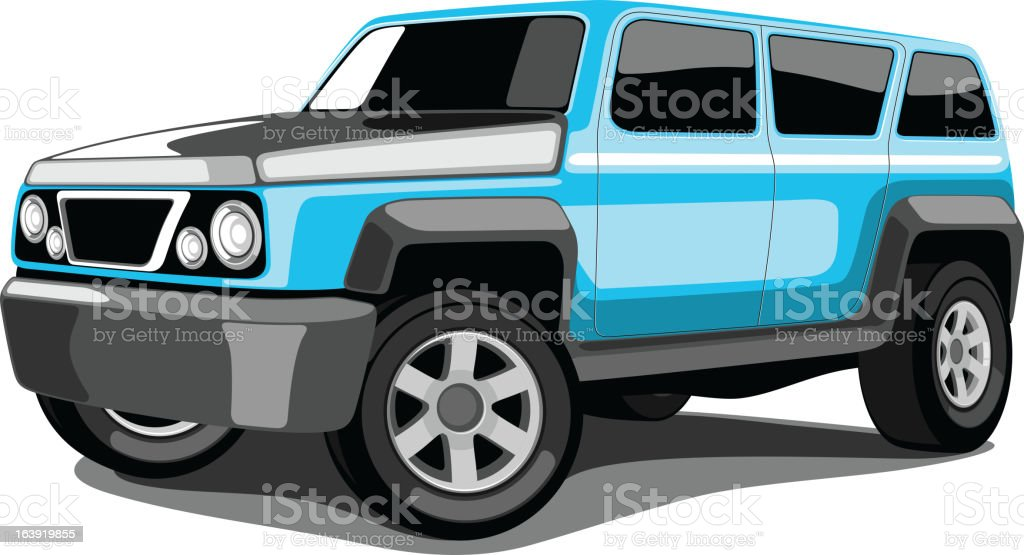 Large Vehicle and SUV. vector art illustration