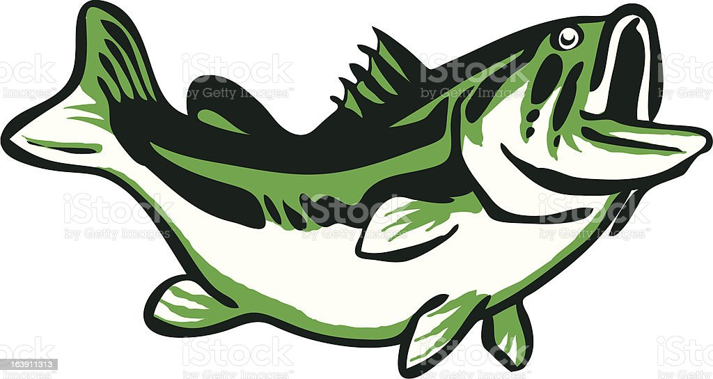 Largemouth Bass Icon vector art illustration