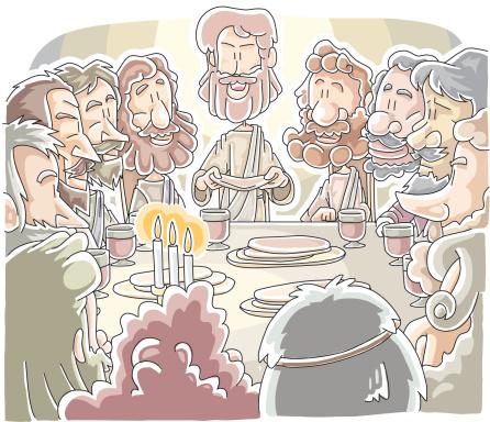 Letztes Abendmahl Stock Vektor Art und mehr Bilder von Apostel