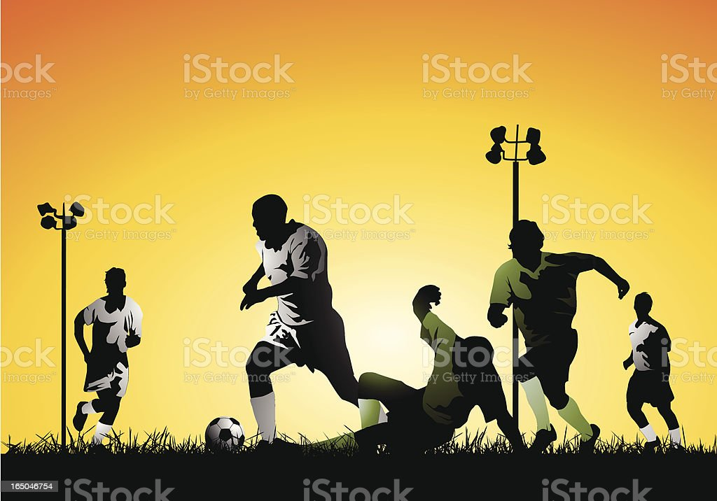 Late afternoon soccer royalty-free late afternoon soccer stock vector art & more images of activity