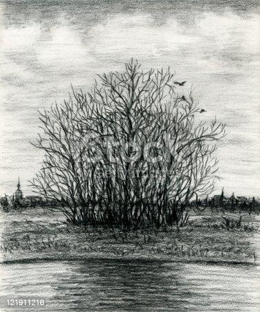 istock Late autumn melancholy paysage 121911216