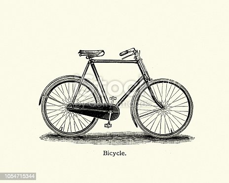 Vintage engraving of Late Victorian Bicycle, 19th Century.