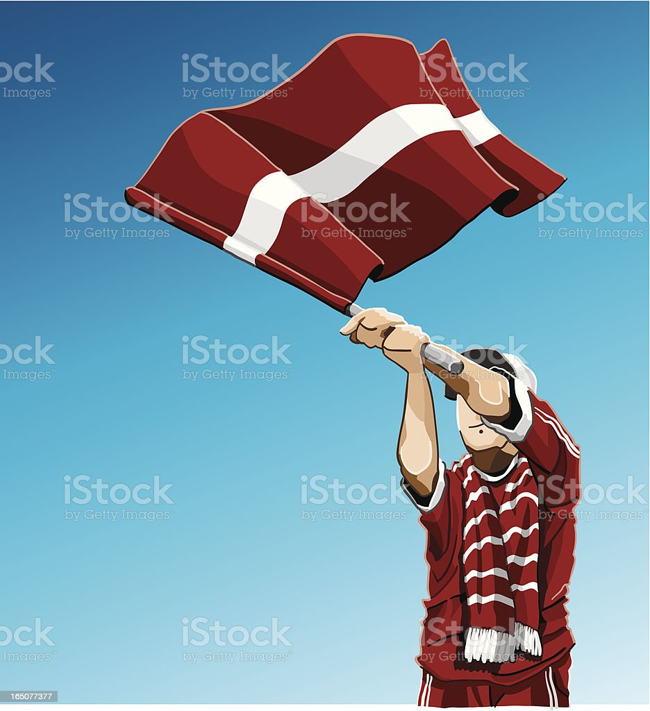 Latvia Waving Flag Soccer Fan royalty-free latvia waving flag soccer fan stock vector art & more images of adult