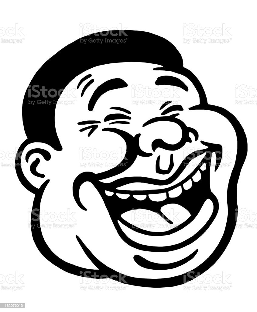 Laughing Man Stock Illustration - Download Image Now - iStock