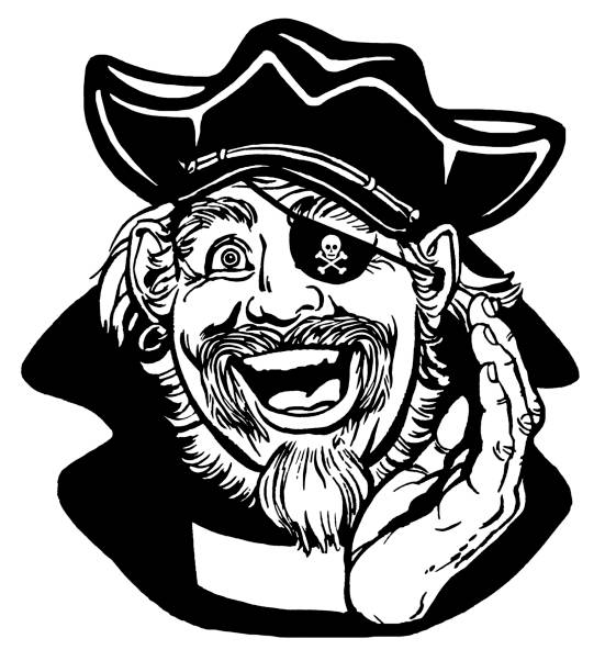 laughing pirate - old man crying clip art stock illustrations, clip art, cartoons, & icons