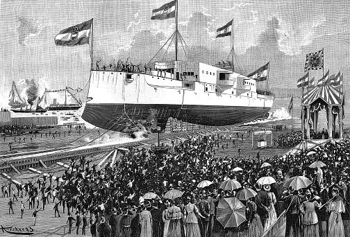 Launch of the cruiser SMS Kaiserin und Königin Maria Theresia
