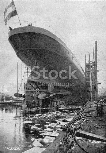 "istock Launching of Steamboat ""Deutschland"" 1900 1270320060"
