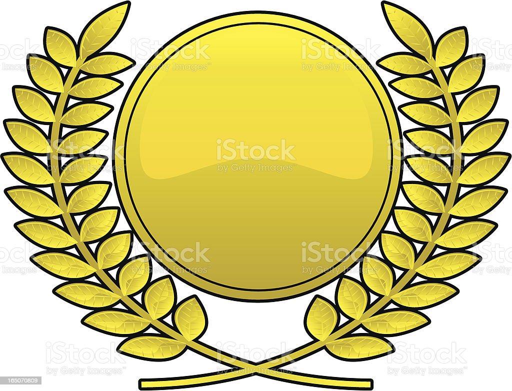 laurel crest royalty-free stock vector art