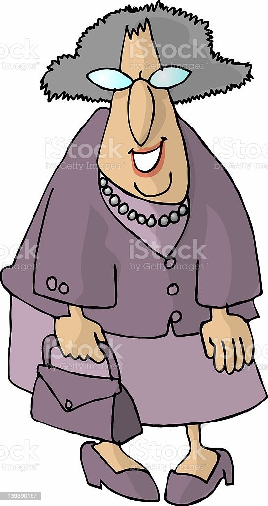 Lavender Granny royalty-free stock vector art