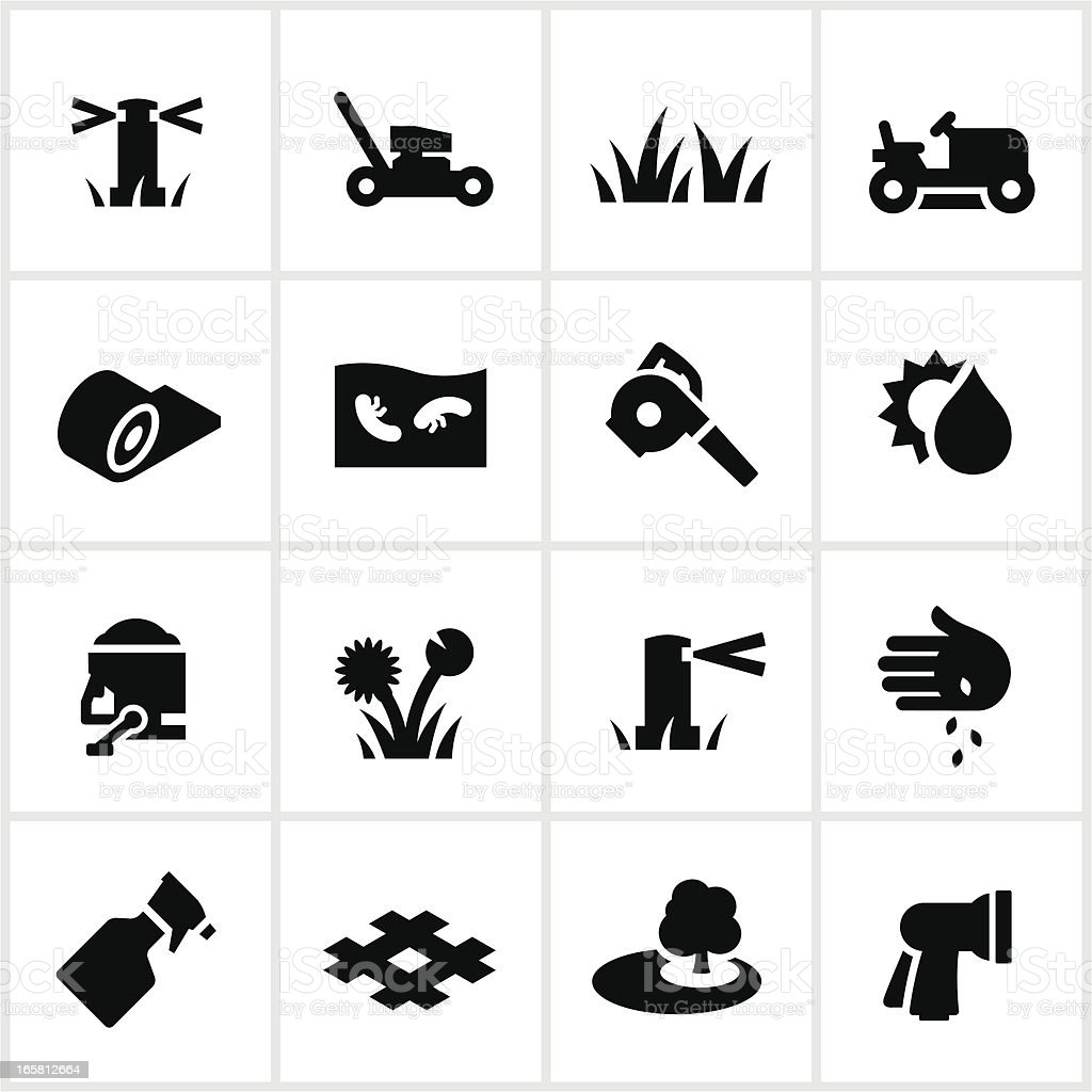 Lawn Care Icons Stock Vector Art Amp More Images Of