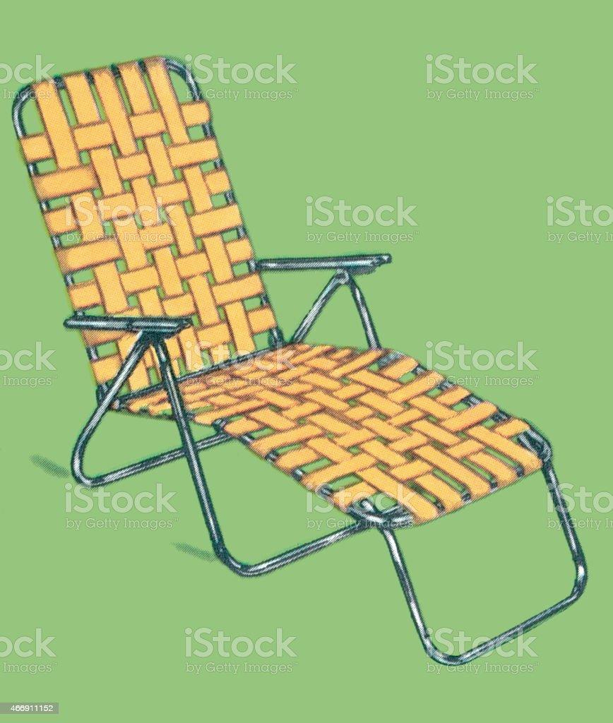 Lawn chair vector art illustration