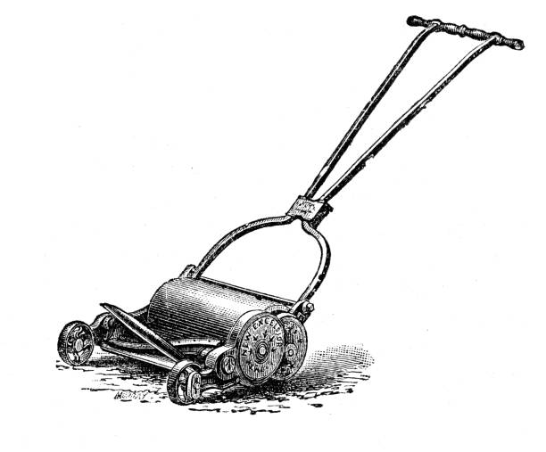 Royalty Free Push Mower Clip Art Vector Images