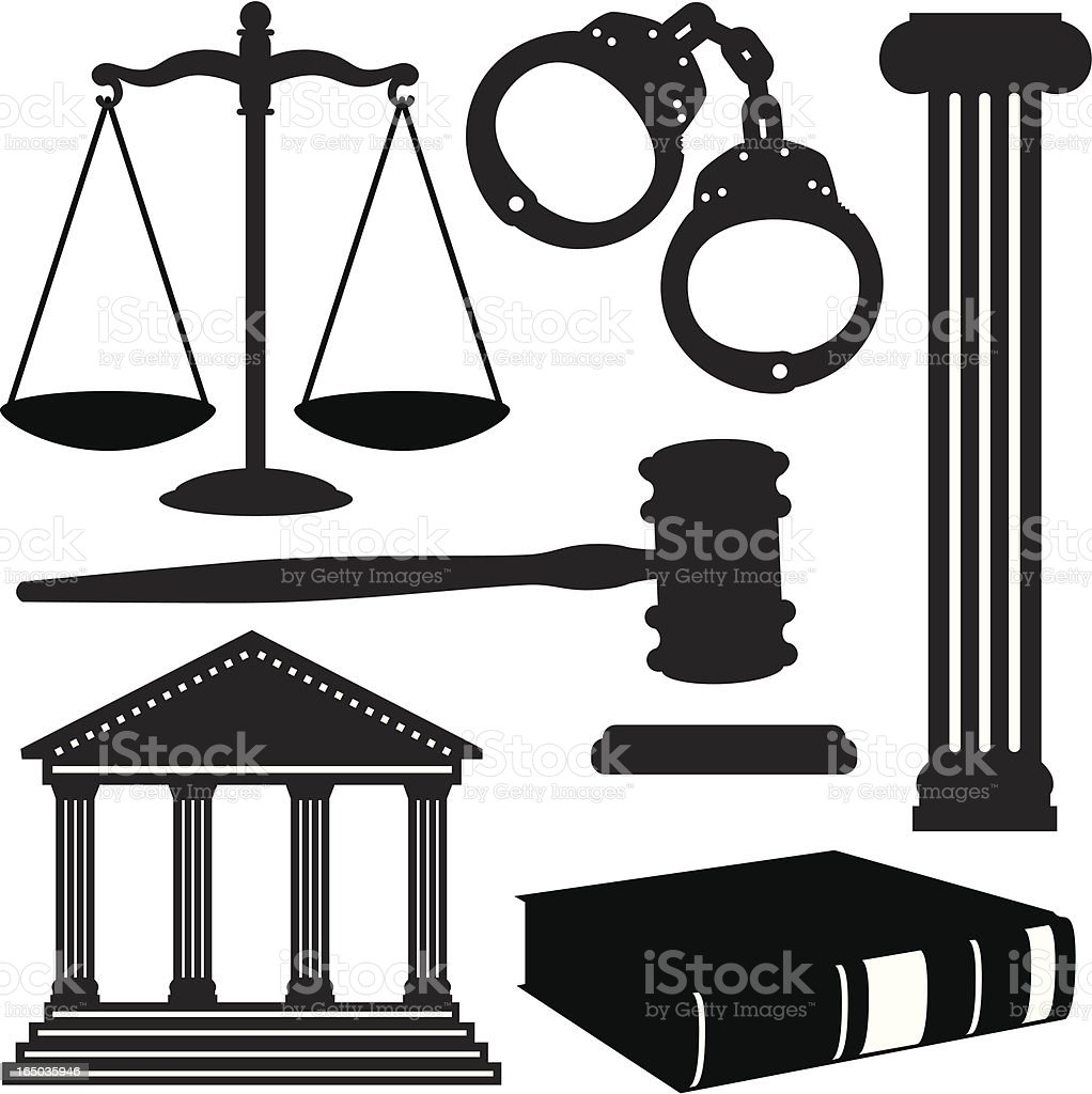 Lawyer/Attorney Elements royalty-free lawyerattorney elements stock vector art & more images of black and white