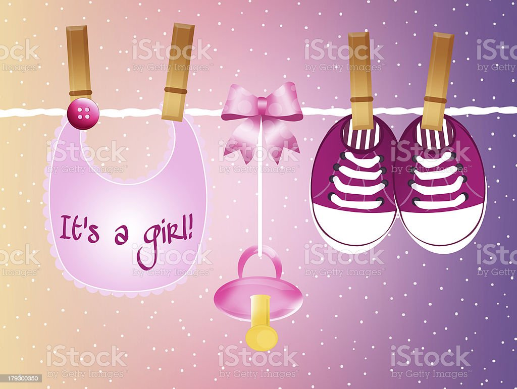 layette for child royalty-free stock vector art