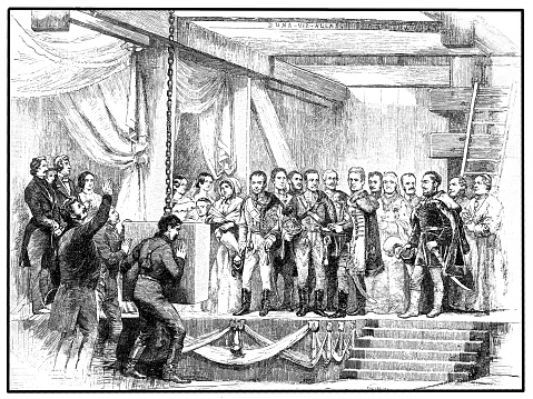 Laying the Foundation stone for Chain Bridge 24 August 1842