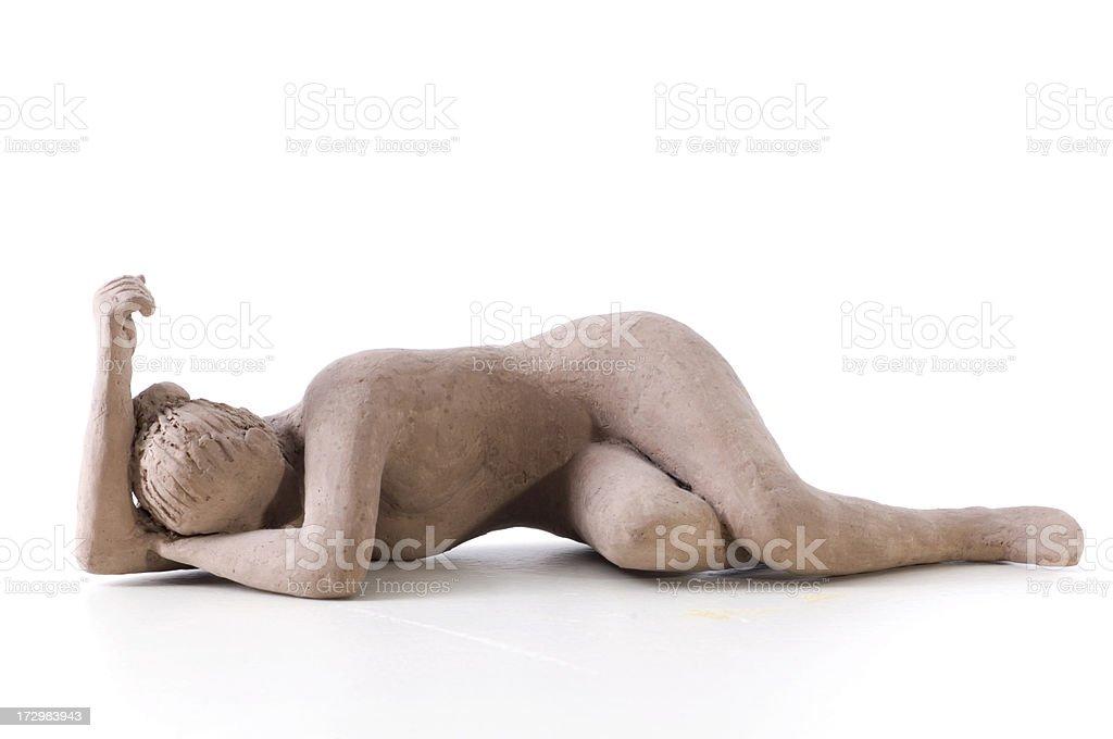 Laying woman royalty-free stock vector art