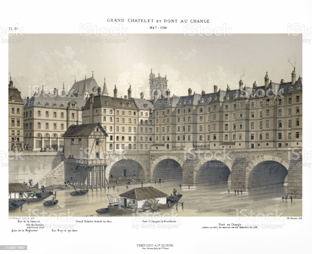 Le Grand Chatelet And Pont Au Change In 1647 To 1788 By
