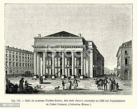 istock Le Theatre Italien, Paris, France, late 18th Century 981065114